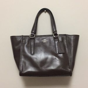 Used once! Small Coach Brown Leather Purse